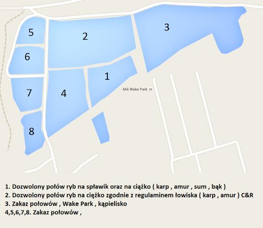mapa łowiska